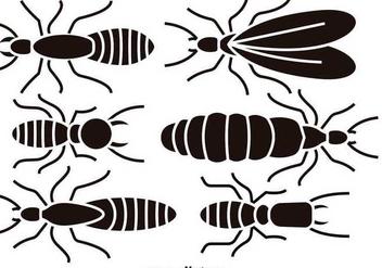 Black termite silhouettes - Free vector #349853
