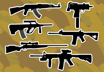 Ar15 Rifles Vector Icons - Free vector #349993