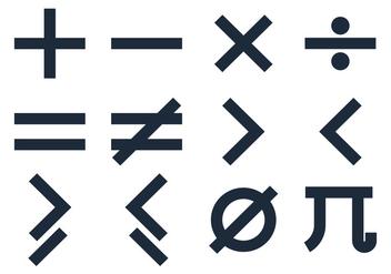 Basic Math Symbols Vectors - Free vector #350103