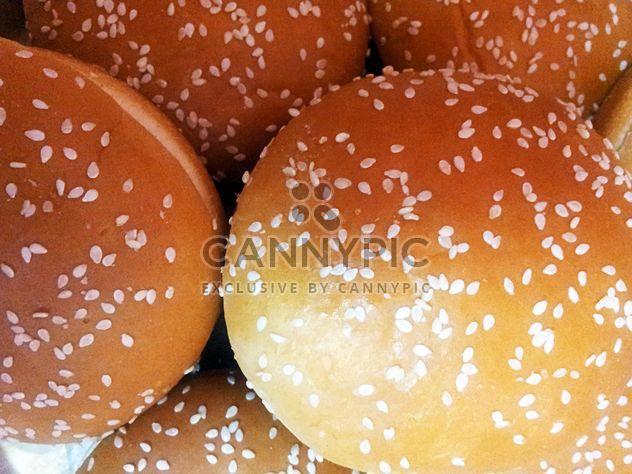 Brötchen mit Sesam Hamburger, Fastfood, Brot - Kostenloses image #350253