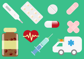Pill Box Medical Illustrations Vector - Free vector #350333