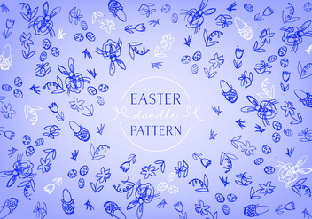 Free Easter Doodle Background Vector - Free vector #350343