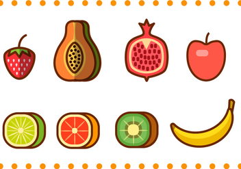 Fruit Icons - vector #350373 gratis