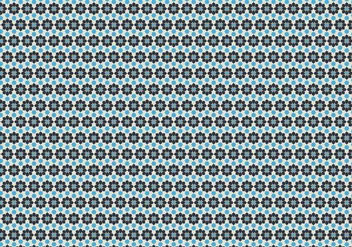 Geometric Floral Pattern Vector - Free vector #350393
