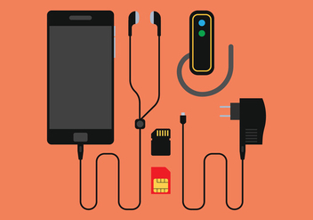 Phone Charger Vector Set - Free vector #350443