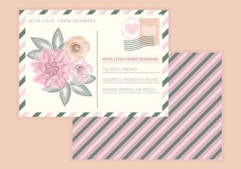 Vector Postcard - vector gratuit #350533