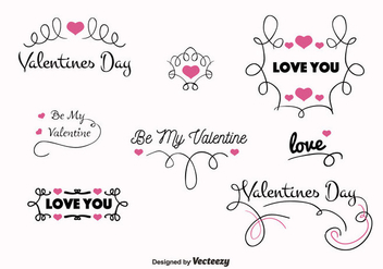Valentines Day Vector Labels - Kostenloses vector #350633