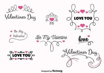 Valentines Day Vector Labels - бесплатный vector #350633