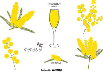 Free Mimosa Vector Set - Free vector #350683