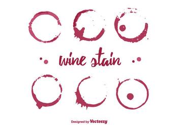 Wine Stain Vector - Kostenloses vector #350753