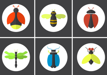 Set of Vector Bugs - Free vector #350893