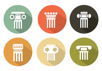 Vector Set of Roman Pillars - Kostenloses vector #350923