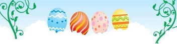 Eggs Decoration Floral Easter Banner - vector gratuit(e) #351003