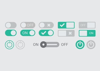 On Off Switch & Buttons - Free vector #351323