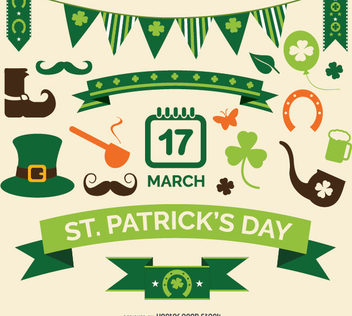 St. Patrick's Element set - vector #351433 gratis