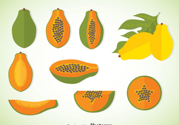 Papaya Vector Sets - vector #351943 gratis