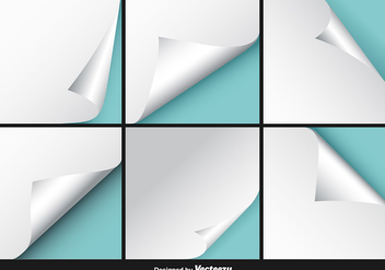 White Page Flip Vector Set - Kostenloses vector #351963