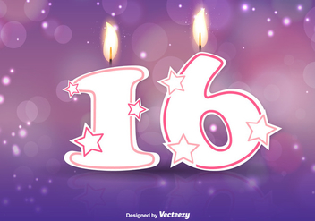Sweet Sixteen Vector Background - Free vector #352163