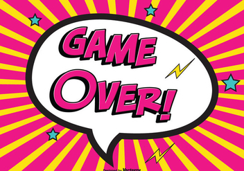 Comic Game Over Vector Illustration - Free vector #352233