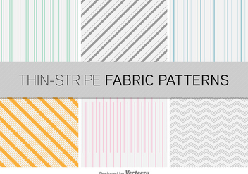 Thin Stripe Vector Patterns - Free vector #352293