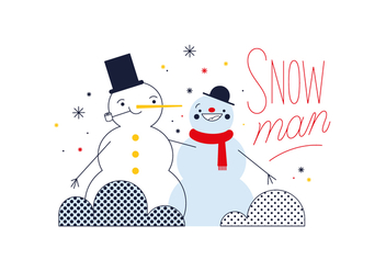 Free Snowman Vector - Free vector #352473
