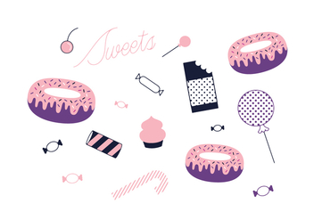 Free sweets Vector - Free vector #352483
