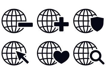 Grid World Icon Vectors - vector gratuit #352563