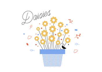 Free Daisies Vector - Free vector #352653