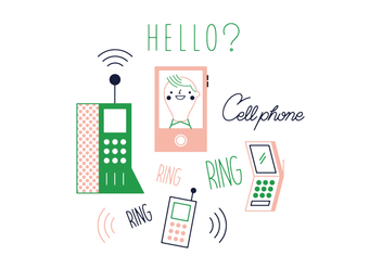 Free Cell Phone Vector - Free vector #352663