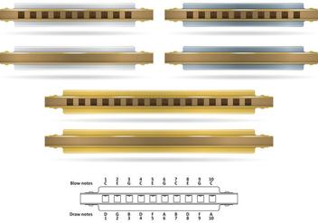 Metallic Harmonicas - Kostenloses vector #352733