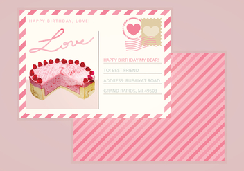 Valentine Vector Postcard - vector gratuit #352853
