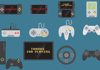 Video Game Controls And Devices - Kostenloses vector #352873