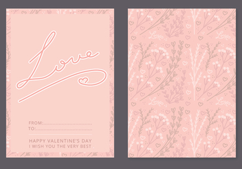 Floral Vector Valentine's Day Card - Free vector #352883