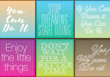 Motivational Quotes - Kostenloses vector #352903