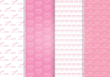 Love Heart Vector Seamless Pattern - Free vector #352923