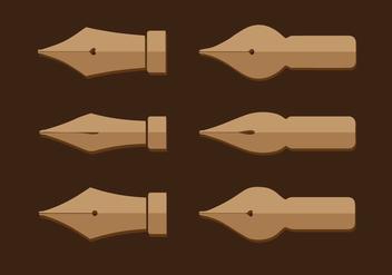 Pen Nib Vector - Free vector #352933