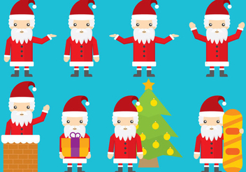 Santa Vector Cartoons - Free vector #352993