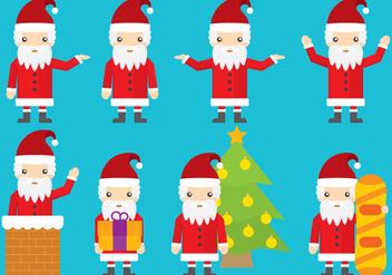 Santa Vector Cartoons - Kostenloses vector #352993