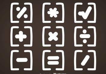 White Math Symbols Vector - Free vector #353033