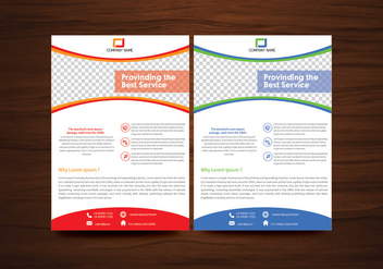 Vector Brochure Flyer Template Vector - vector #353173 gratis
