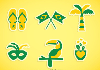 Brasil Element Icons Vector - Free vector #353283