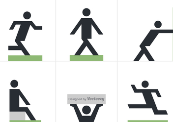 Free Man Posture Vector Icons - Free vector #353303