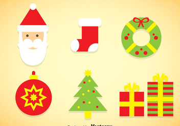 Christmas Colors Icons Vector - Free vector #353313