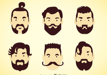 Man Hairstyles Vector Sets - Free vector #353363