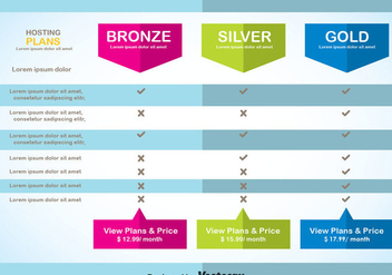 Modern Pricing Table Template Vector - Free vector #353453
