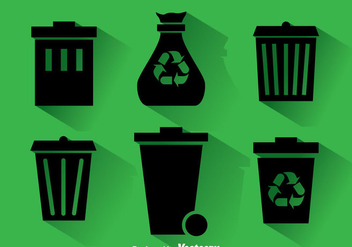 Dumpster Black Icons - Free vector #353473
