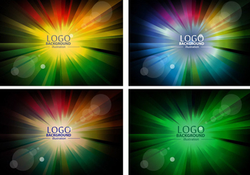 Colorful Logo Background Design Vectors - Free vector #353493