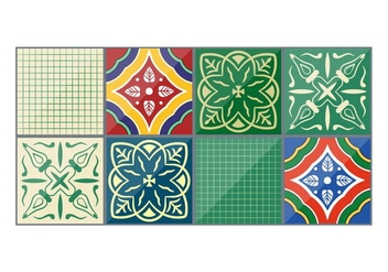 Emerald Vector Talavera Tiles - vector gratuit #353733