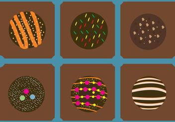 Yummy Truffles Vectors - vector #353763 gratis