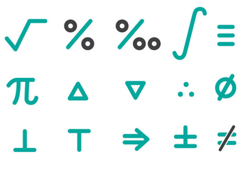 Free Math Icons Pack Vector - vector gratuit #353803